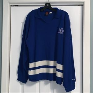 NIKE Blue Knit Sweater size large